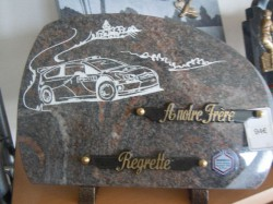 Plaque thème automobile