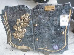 Plaque marbre gravure plaqué or